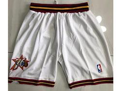 Mens Nba Philadelphia 76ers White Just Don No Pocket Shorts