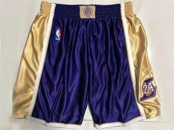 Mens Nba Los Angeles Lakers #24 Purple Just Don No Pocket Shorts