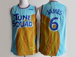 Mens Nba Space Jam Tune Squad #6 James Blue&yellow Nike Swingman Jersey