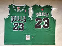 Mens Nba Chicago Bulls #23 Michael Jordan Green Mitchell&ness Hardwood Classics Swingman Jersey
