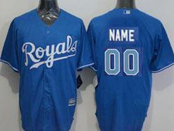 Mens Mlb Kansas City Royals Custom Made (royals) Blue Cool Base Nike Jersey