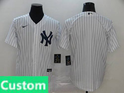 Mens Womens Youth Mlb New York Yankees Custom Made White Cool Base Nike 2020 Home Jersey No Name