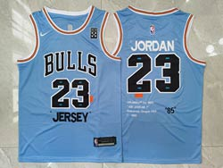 Mens Nba Chicago Bulls #23 Michael Jordan Blue 85 Hardwood Classics Nike Swingman Jersey