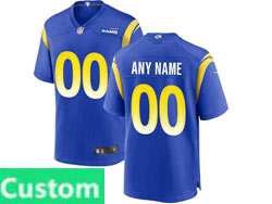 Mens Women Youth Nfl Los Angeles Rams Blue Custom Made Nike Game Jersey