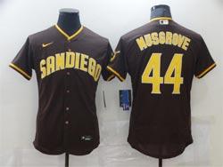 Mens Mlb San Diego Padres #44 Joe Musgrove Brown Flex Base Nike Jersey