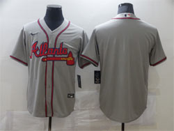 Mens Mlb Atlanta Braves Blank Gray Cool Base Nike Jersey