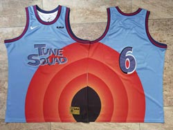 Mens Nba Space Jam Tune Squad #6 James Blue&orange No Name Nike Swingman Jersey