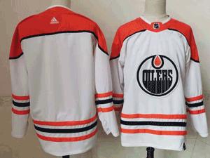 Mens Nhl Edmonton Oilers Blank White 2021 Reverse Retro Alternate Adidas Jersey