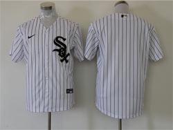 Mens Mlb Chicago White Sox Blank White Stripe Cool Base Nike Jersey