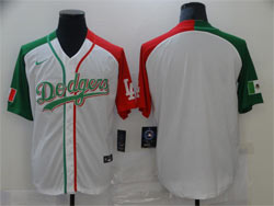 Mens Mlb Los Angeles Dodgers Blank White Half Edition Cool Base Nike Jersey