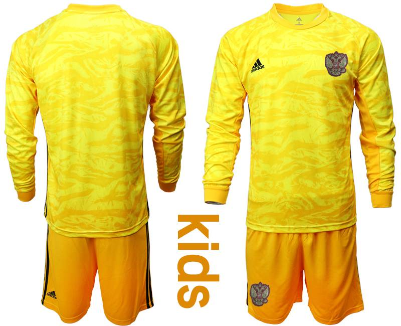ECseller Official--Kids Soccer Russia National Team Current Player Yellow Goalkeeper 2020 ...